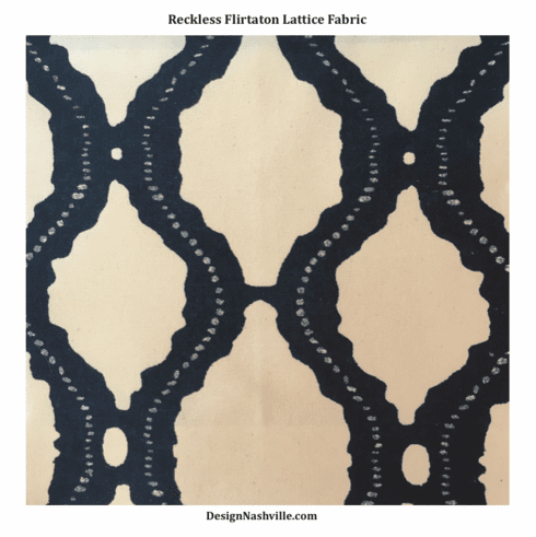 Reckless Flirtation Lattice Fabric