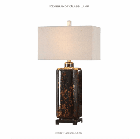 Rembrandt Glass Lamp