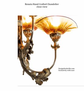 Additional Photo Renata Hand Crafted Chandelier close view