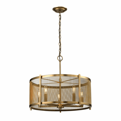 Renfrew Brass Screened Chandelier