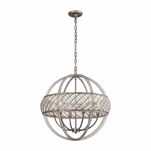 Rialto Sphere Chandelier 6 light