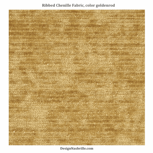 Ribbed Chenille Fabric, goldenrod