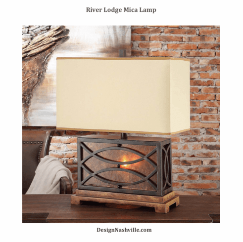 River Lodge Mica Lamp
