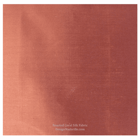 Roasted Coral Silk Fabric