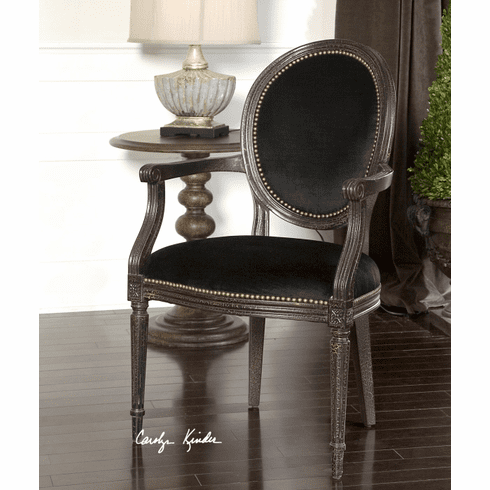 Rohan Midnight Velvet Chair