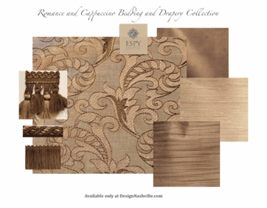 Romance and Cappuccino Bedding and Drapery Collection