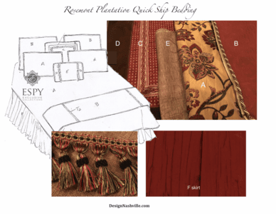 Rosemont Plantation Bedding and Drapery Collection