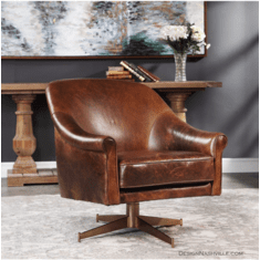 Rowan Swivel Leather Chair