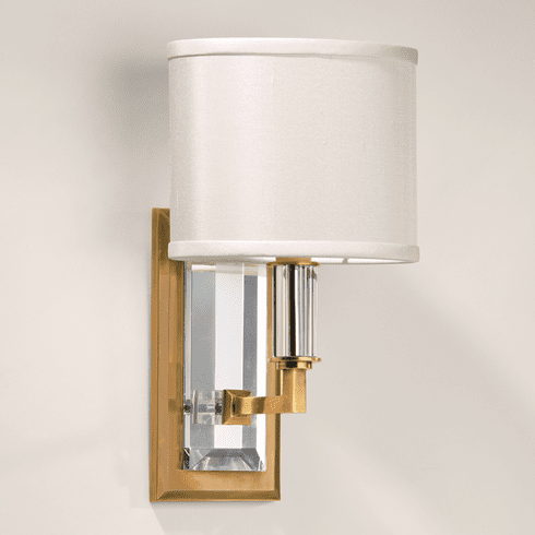Rowland Crystal and Brass <br>Light Sconce
