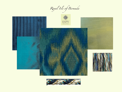Royal Isle of Bermuda Bedding and Drapery Collection