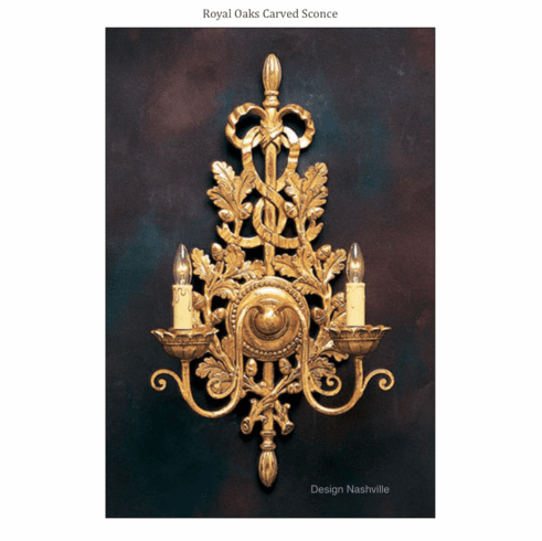 Royal Oaks Carved Sconce