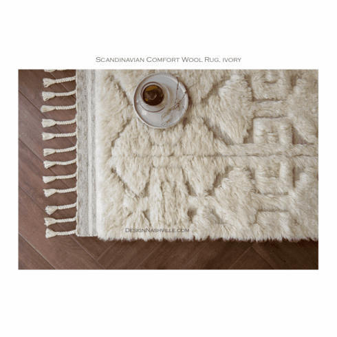 Sample Scandinavian Comfort Wool Rug, ivory