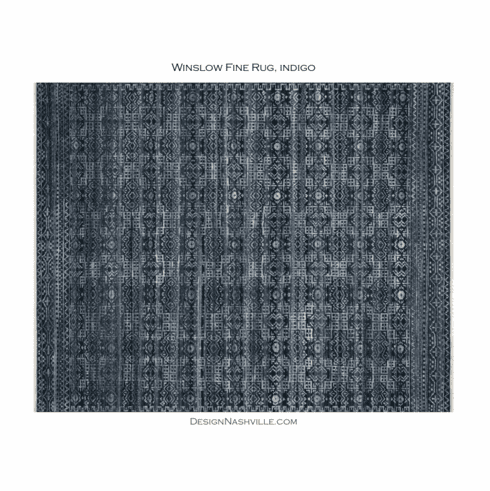 Sample Winslow Fine Rug, indigo