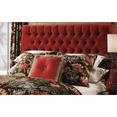 Sangria Red Tufted Headboard