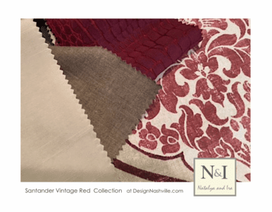 Santander Vintage Red Bedding and Drapery Collection
