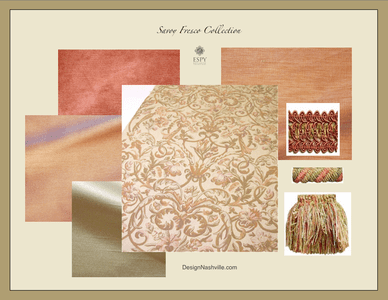 Savoy Fresco Bedding and Drapery Collection