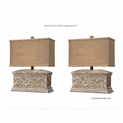 Savoy Fresco Lamps set of 2