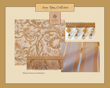 Savoy Topaz Bedding and Drapery Collection
