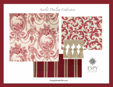 Scarlet Darling Bedding and Drapery Collection