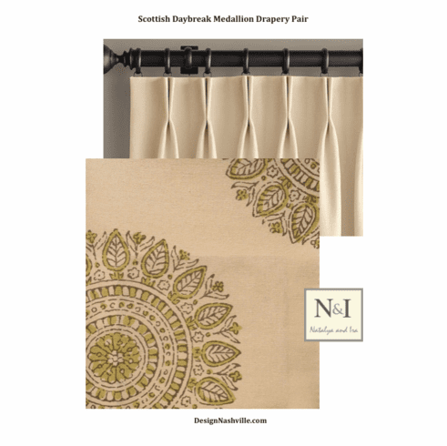 Scottish Daybreak Medallion Drapery Pair