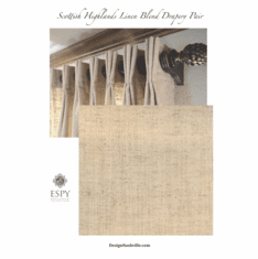 Scottish Highlands Linen Blend Drapery PAIR
