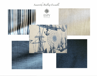Seaworthy Nautical Bedding and Drapery Collection