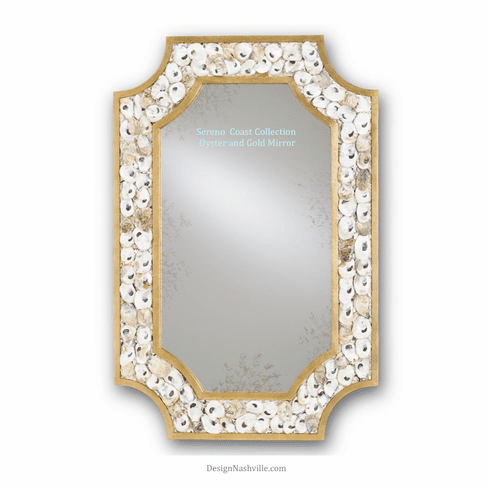Sereno Coast Oyster Shell Mirror