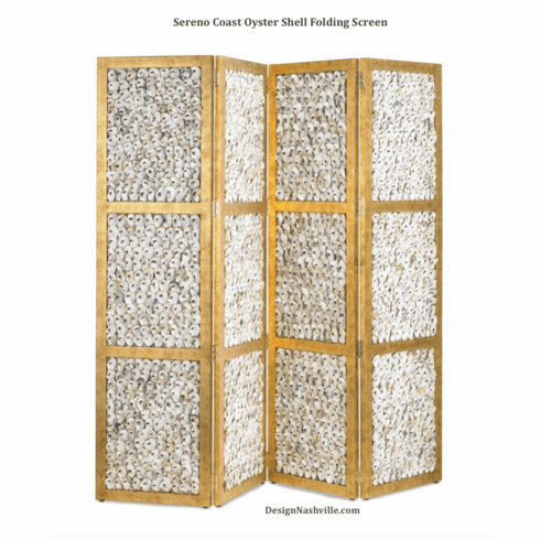Sereno Coast Oyster Shell Folding Screen