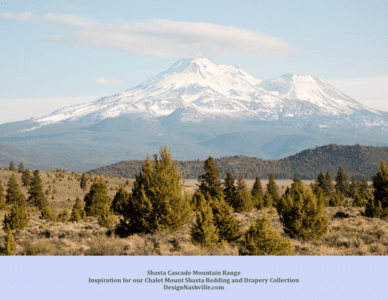Shasta, Cascade Mountain Range, design inspiration
