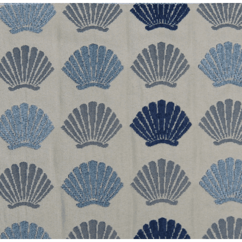Shells in Blue Fabric