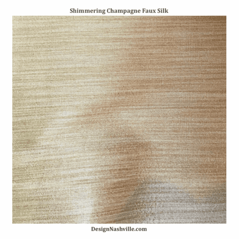 Shimmering Champagne Faux Silk