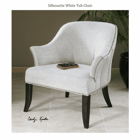 Silhouette White Tub Chair