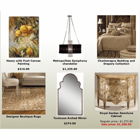 Silver and Champagne Home Accents