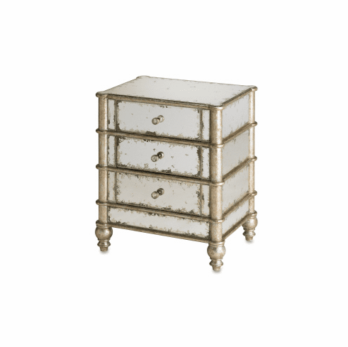 Silver Bamboo and Mirror Chest