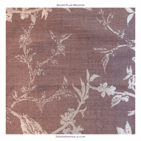 Silver Plum Meadow Fabric