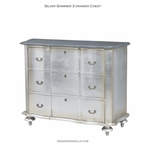Silver Shimmer 3 Drawer Chest