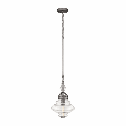 Simon Pendant weathered zinc 18""