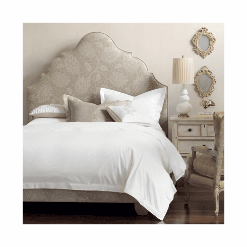 Simple Elegance Upholstered Headboard and Bed