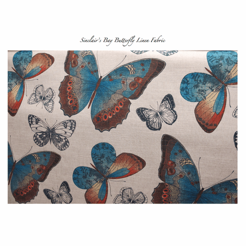 Sinclair's Bay Butterfly Linen Fabric