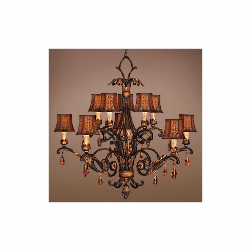 Sir Walter Raleigh amber crystal chandelier