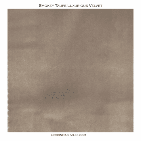 Smokey Taupe Luxurious Velvet <br>SWATCH