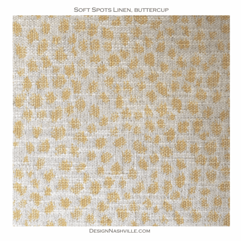 Soft Spots Linen Fabric, buttercup