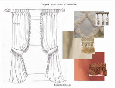 Specifications and Recommendations Draperies with Tassel Trim
