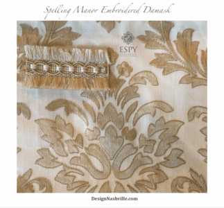 Spelling Manor Embroidered Collection, antique gold