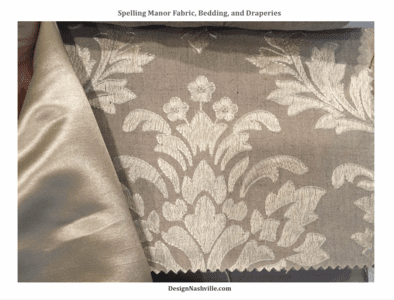 Spelling Manor Embroidered Damask Collection