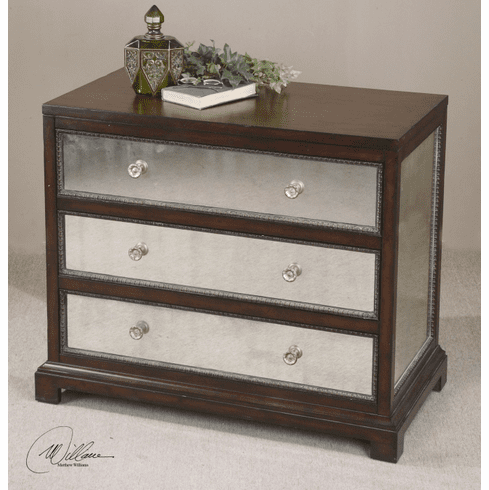 St. Cloud Mirrored Drawer Chest