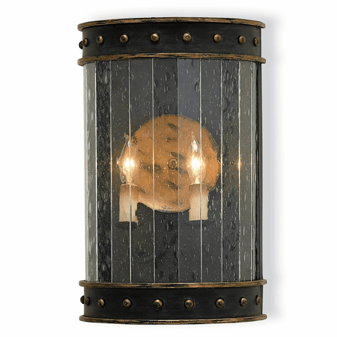 Stanton Hall Black Wall Sconce