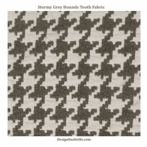 Stormy Grey Hounds Tooth Fabric