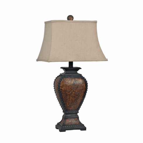 Studded Leather Lamps, SET of 2