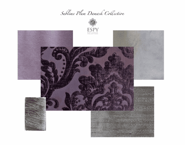 Sublime Plum Drapery and Bedding Collection